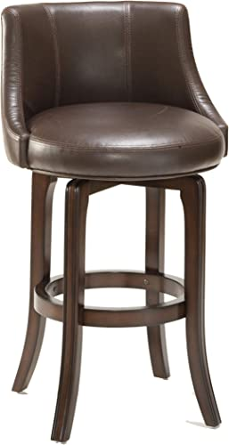 Hillsdale Furniture Napa Valley Swivel Bar Height Stool, Dark Brown Cherry
