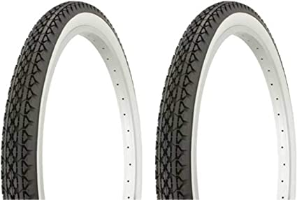 "2 Bicycle Tire Duro 24/"" x 1.75/"" Red Lowrider Cruiser Chopper Road Bike"