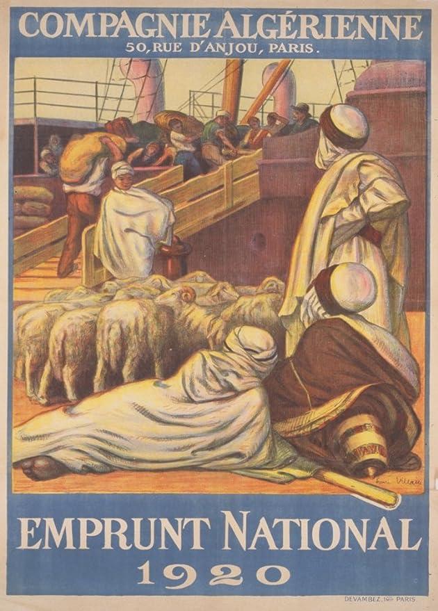Vintage francés WW1 1914-1918 de la Propaganda 1920 nacional ...