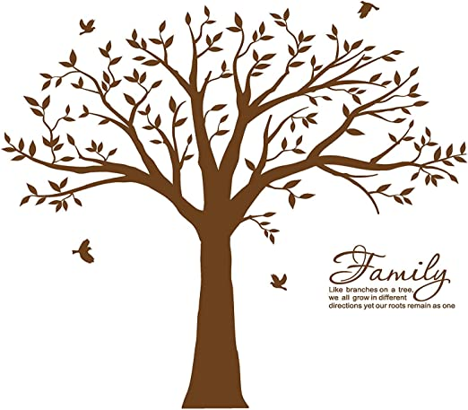 com mafent family tree wall decal~family branches wall
