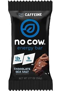 No Cow Chocolate Sea Salt Energy Bar, 12 Count