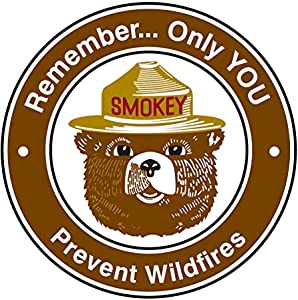 Vintage Retro Smokey Bear 12x12 Inch Round Metal Tin Sign Wall Decor Funny Iron Painting 30cm Diameter