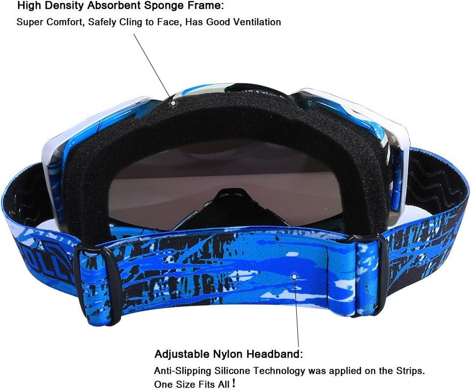Motocross Goggles ATV Goggles Dirt Bike Goggles Offroad Goggles for Men Women