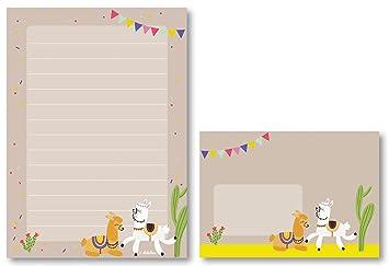 Lama de Juego de papel de cartas para niños: 25 hojas de ...