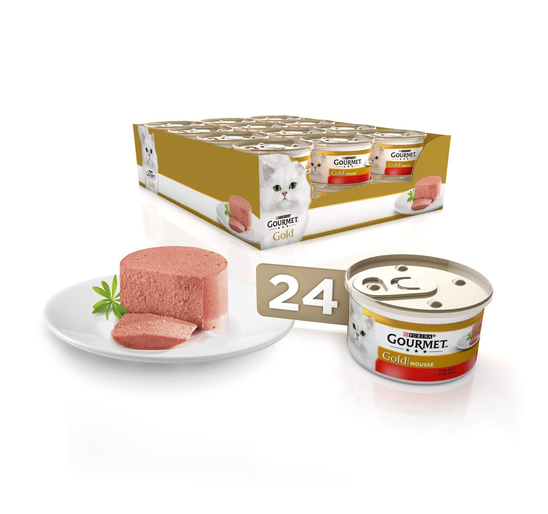 Purina Gourmet Gold Mousse comida para gatos con Buey 24 x 85 g product image