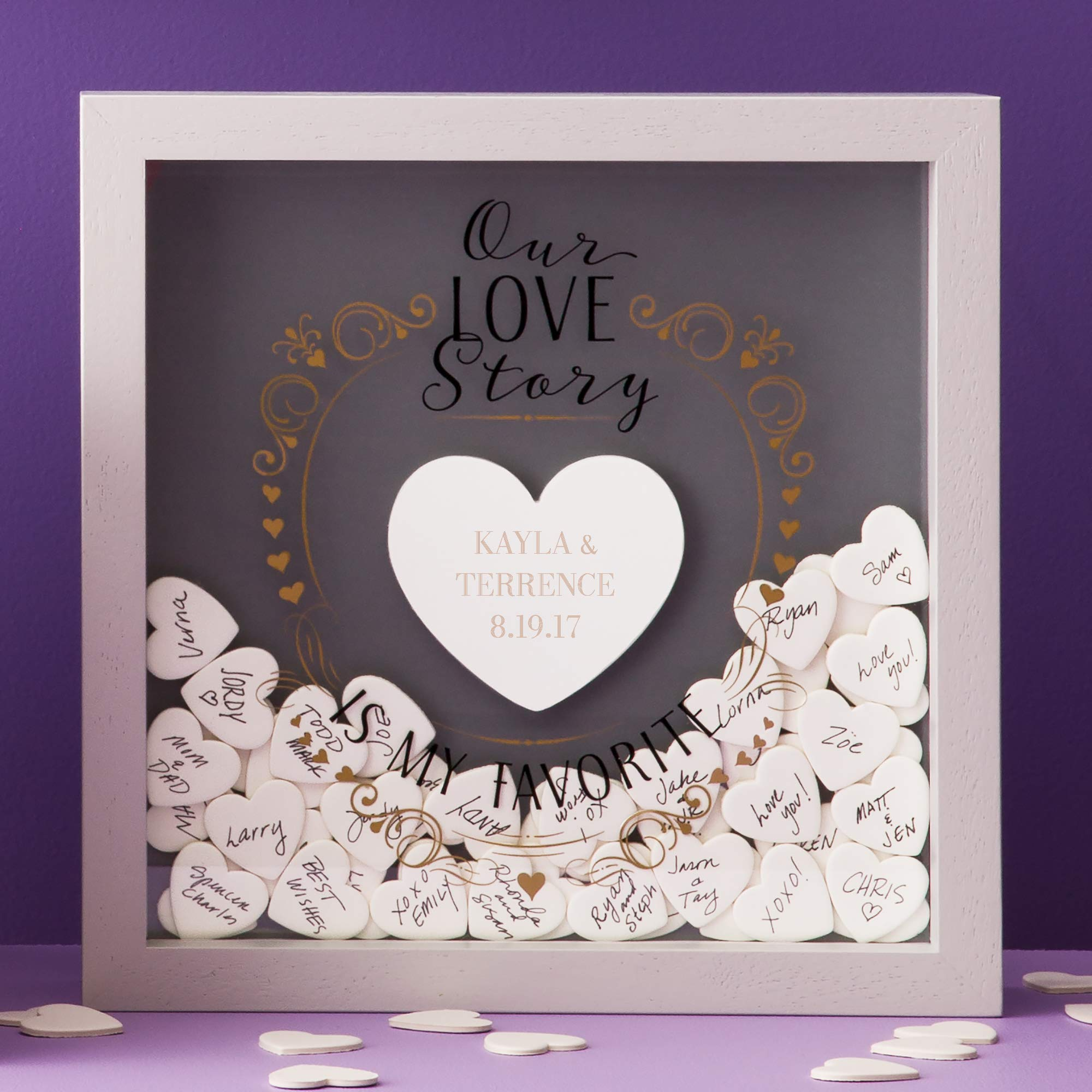 Things Remembered Personalized Love Story Wedding Message Box with Engraving Included by Things Remembered