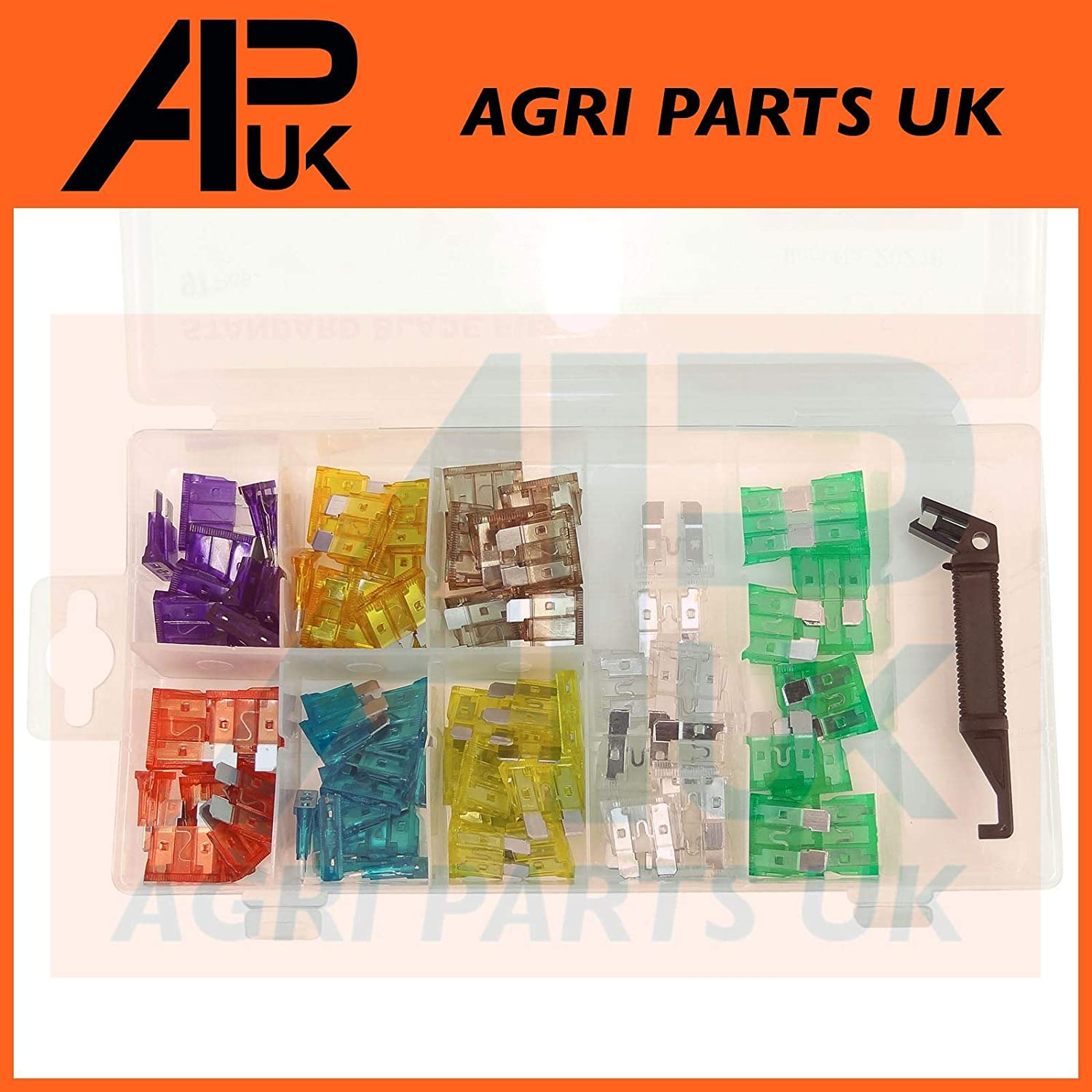 97pc Assorted Standard Blade fuses 3 5 7.5 10 15 20 25 30 A Amp Tractor Digger