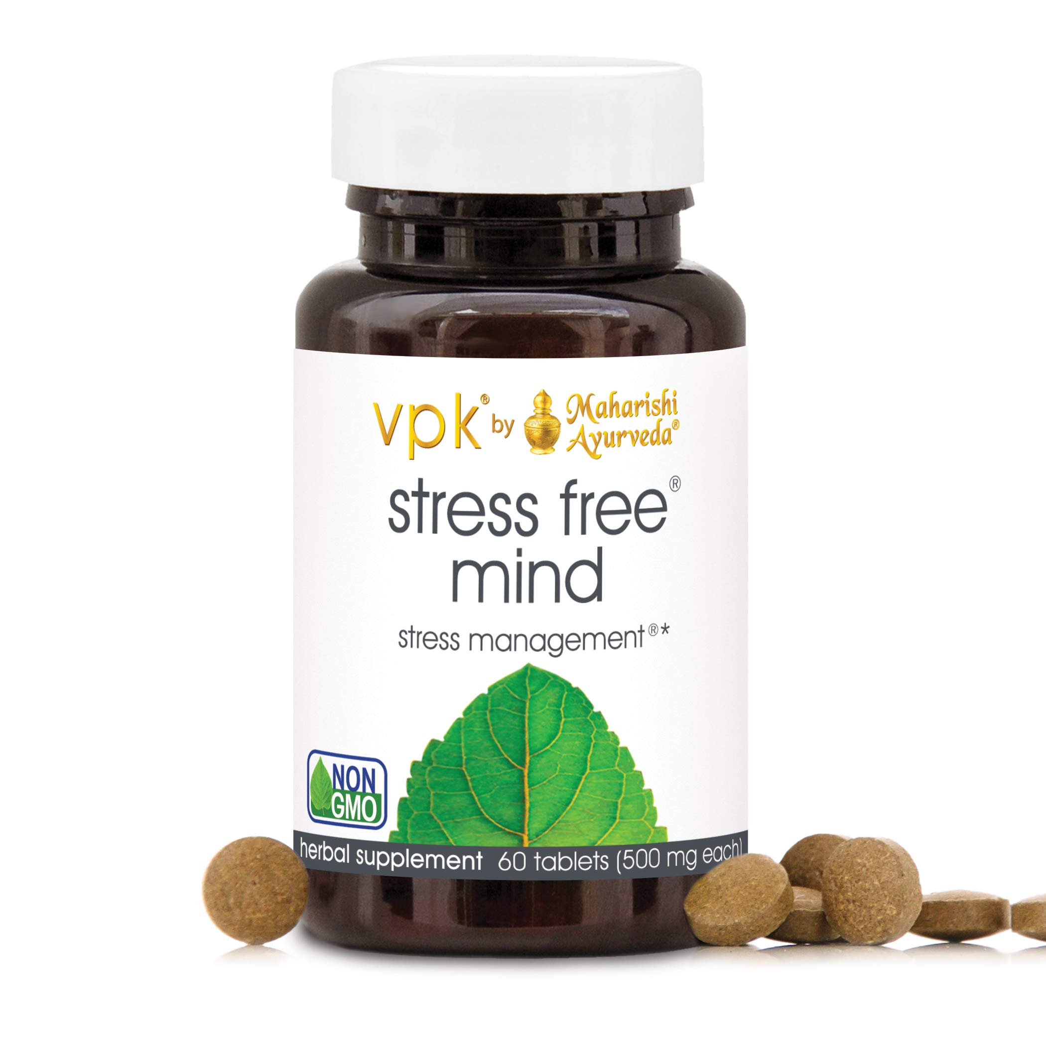 Stress Free Mind | 60 Herbal Tablets - 500 mg ea. | Natural Resistance to Daily Mental Stress & Fatigue | Maintain Mental Calm & Alertness