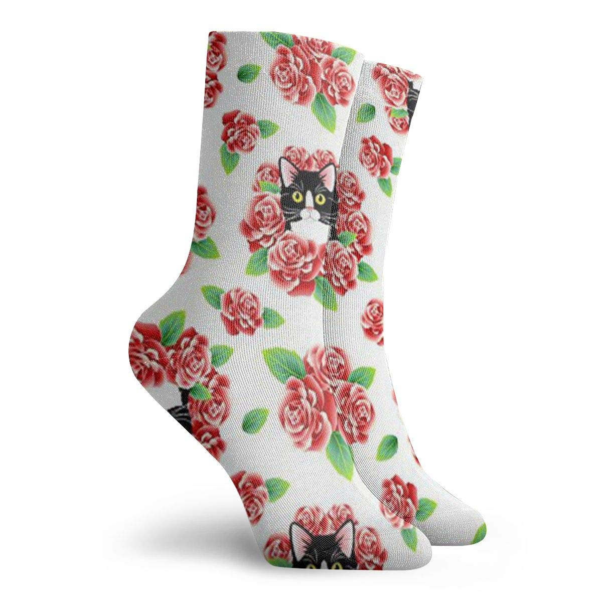 Cat In The Bush Unisex Funny Casual Crew Socks Athletic Socks For Boys Girls Kids Teenagers