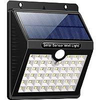 iPosible Luz Solar Jardín, Upgraded 46 LED 1800 mAh Foco Led Solar con Sensor Movimiento Lámpara Solar Exteriors…