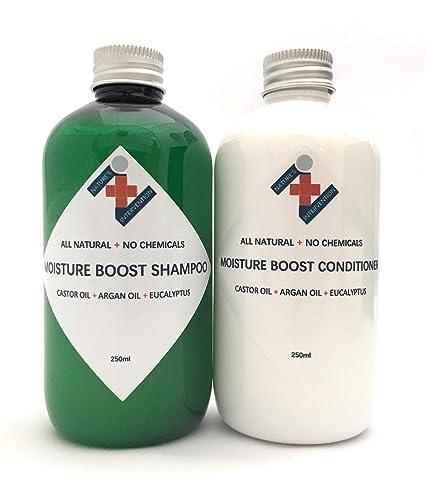 100% NATURAL - CHAMPÚ (250 ml) ACONDICIONADOR (250 ml) Con ACEITE
