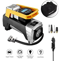 Geker 12V 150PSI Portable Air Compressor with Emergency Light