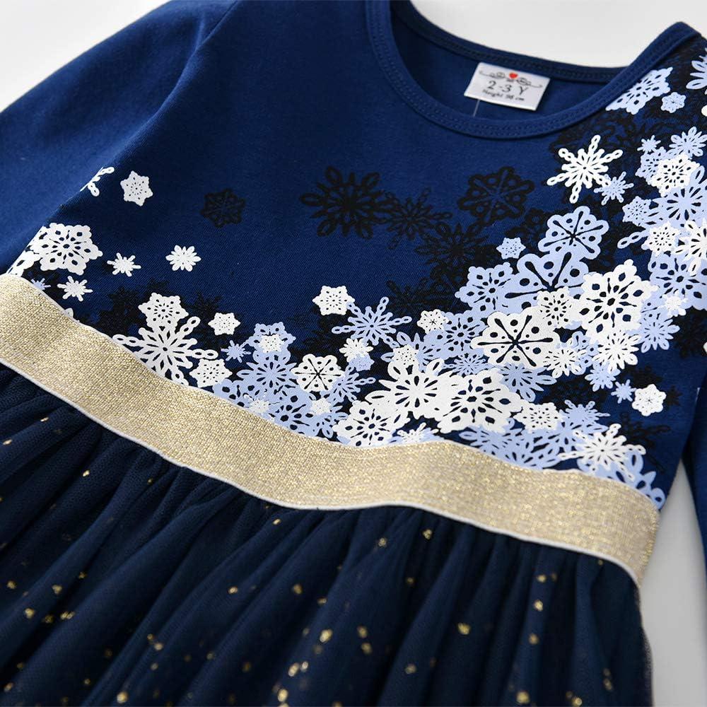 VIKITA Robe Fille Princesse Mariage Ceremonie Pageant Casual Enfants Robe d/ét/é 1-8 Ans