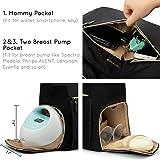 mommore Breast Pump Bag Diaper Tote Bag with 15