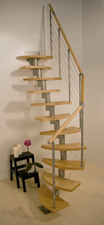 Ahorrar espacio en el Dolle Rome espiral - escalera para desván Kit (en stock): Amazon.es: Bricolaje y herramientas