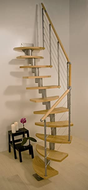 Space Saving Modular Spiral Staircase Rome By Dolle