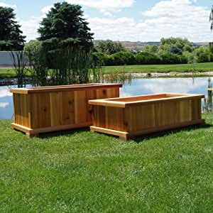 Amazon Com Wood Country Rectangle Cedar Wood Boise Patio