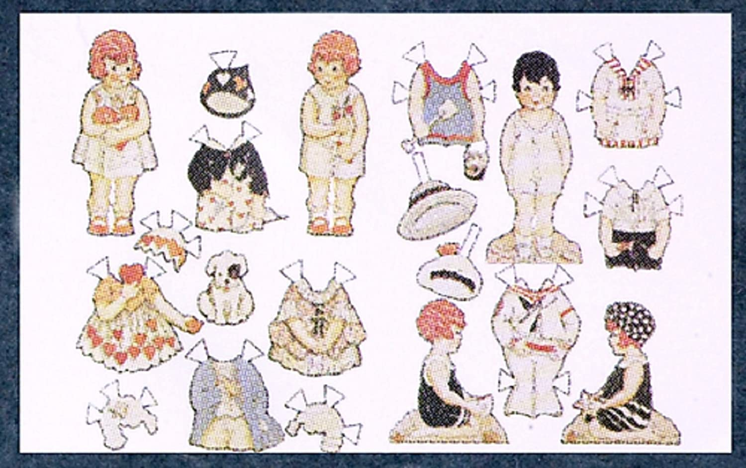 1:12 Scale Paper Dolls #Fa40315 AZTEC IMPORTS