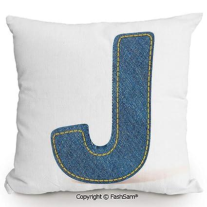 Amazon.com: FashSam Home Super Soft Throw Pillow Blue Jean ...