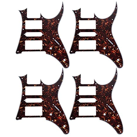 4pcs HSH Dark Brown Tortoise Shell sustitución de Eletric Guitarra Pickguard Ibanez RG250 estilo