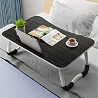 Adjustable Laptop Bed Table Lap Standing Desk for Bed and Sofa Breakfast Bed Tray Laptop Lap Desk Folding Breakfast…