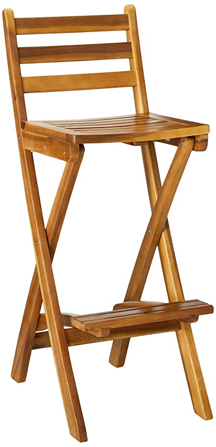 Enjoyable Atlantic Foldable Outdoor Wood Bar Stool Gmtry Best Dining Table And Chair Ideas Images Gmtryco