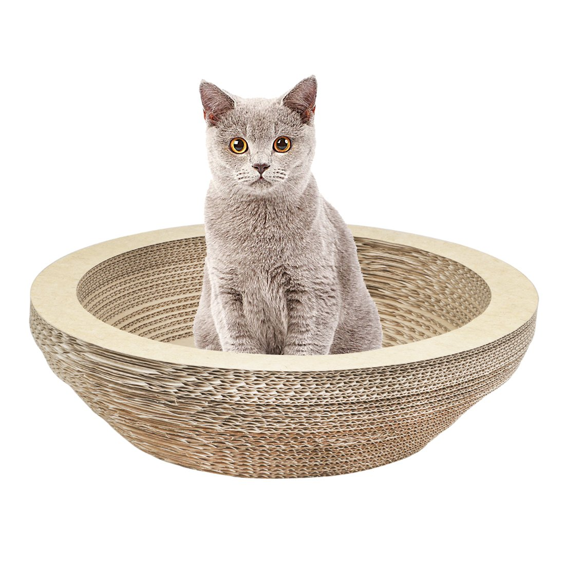 Tanoy Cat Scratching Lounge Board Corrugated Cardboard Scratcher Cat Scratch Pad Post Sharpen Claws Pet Toy Large