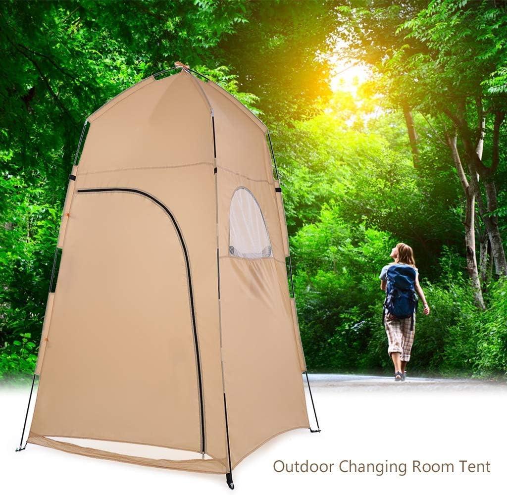 Brisezz Tente de douche portable d'extérieur pour salle de bain à langer beige
