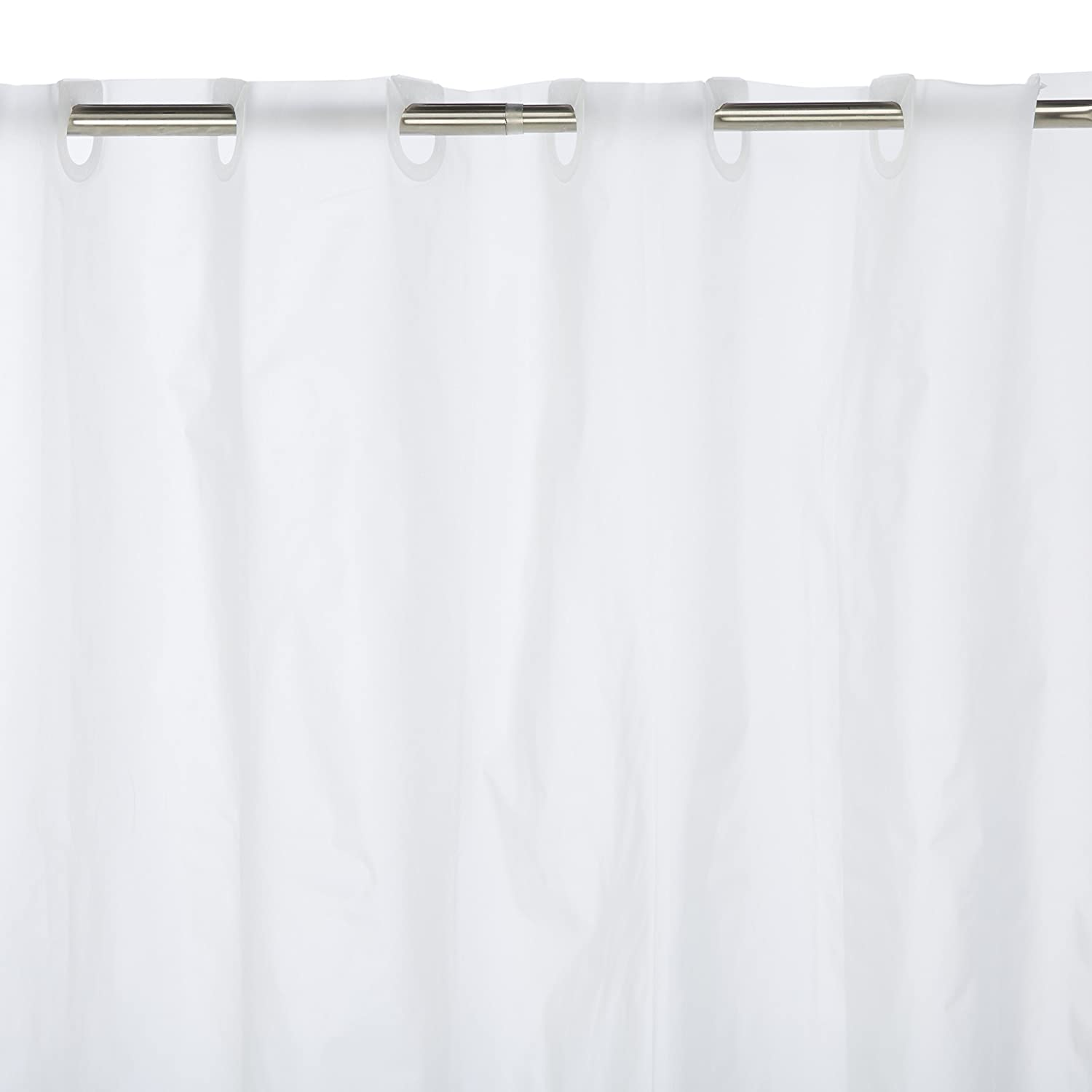 Amazon Carnation Home Fashions PEVA EZ On No Hooks Needed Inch Shower Curtain 72 By Frosty Clear Kitchen