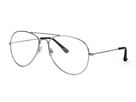 Amazon.com: Gravedad marco plateado lente transparente ...