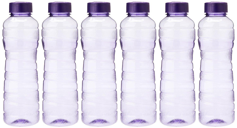 Princeware Victoria PET Fridge Bottle, 975 ml, Set of 6,...