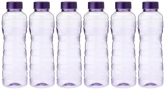Princeware Victoria PET Fridge Bottle, 975 ml, Set of 6, Violet-Best-Popular-Product