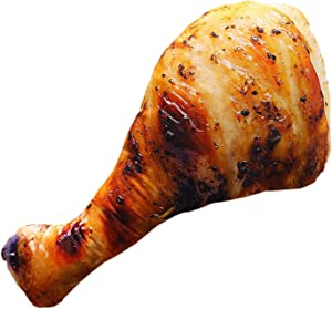 Roasted Chicken Leg Food Pillow,Realistic Roasted Chicken Leg Fake Food Pillows, Soft & Elastic Simulation-shaped Plush Grilled Food Pillow Gift,Home Leisure Decoration Food Plush Dolls for Adults&Kid