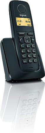 Gigaset A120 - Teléfono Inalámbrico, Agenda de 50 Contactos, Pantalla Iluminada, Color Negro: Gigaset: Amazon.es: Electrónica