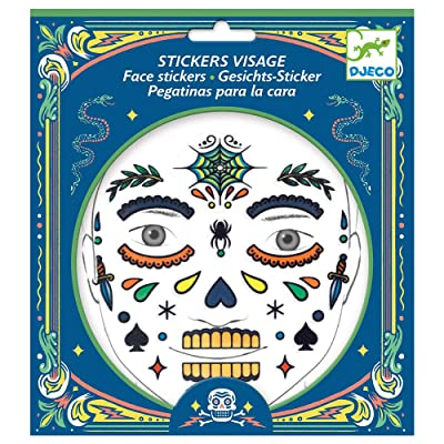 Skull Face Stickers by Djeco: Arts, Crafts & Sewing