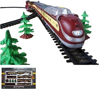 Elektrische Eisenbahn Starter Set mit Licht und