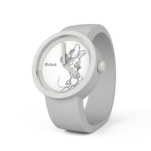 O clock Disney Minnie CLOCKDMBS - Reloj analógico de Cuarzo Unisex, Correa de Silicona Color Blanco: Amazon.es: Relojes