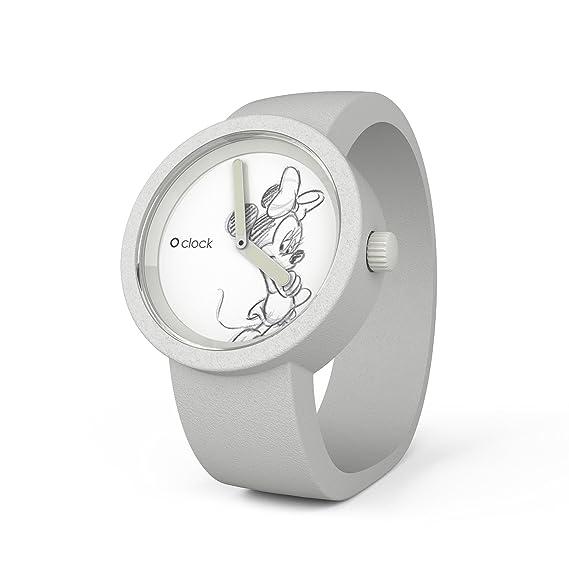 O clock DISNEY MINNIE CLOCKDMBS - Reloj analógico de cuarzo unisex, correa de silicona color