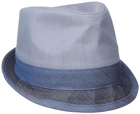 138b07e0c33a7 Amazon.com  Original Penguin Men s Color-Blocked Chambray Porkpie Hat   Clothing