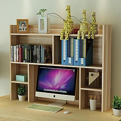 WJXBoos Estante Escritorio,Rack Simple Oficina computadora ...