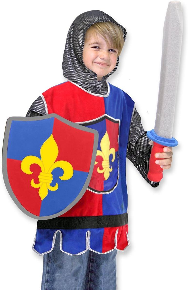 Melissa & Doug- Knight Disfraz Caballero para Niños, Multicolor, 3 a 6 años (14849)