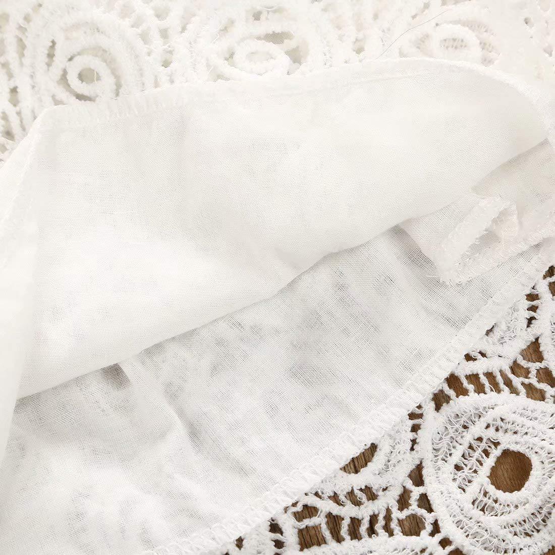 SUPEYA Baby Girls Princess Dress Flower Lace Wedding Party Short Sleeve Dresses