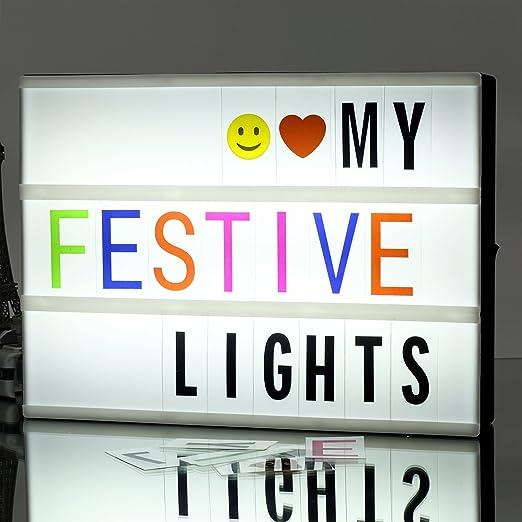 A4 LED Caja de luz letras , caja de luz de cine cinematográfica de ...