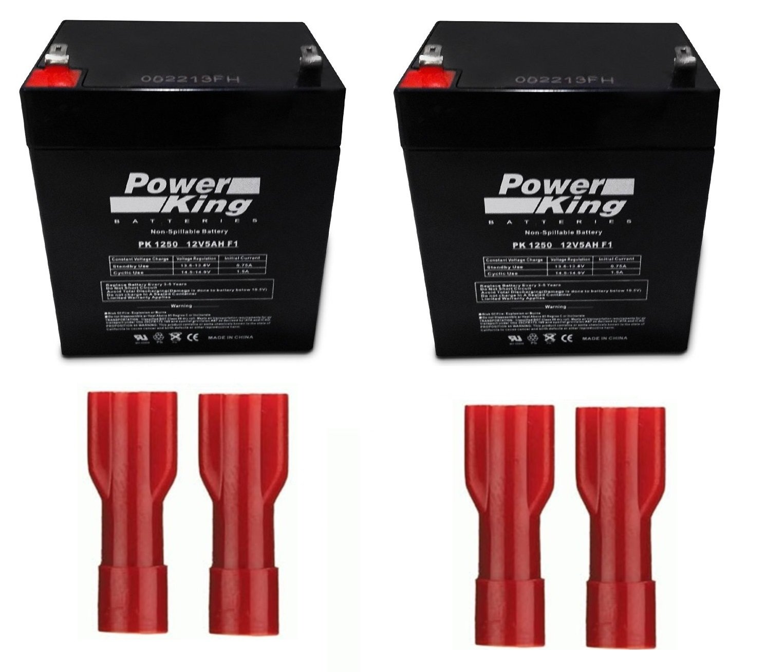 41B591 Battery Replacement for BBU Includes 2 Batteries- Terminals Beiter DC Power
