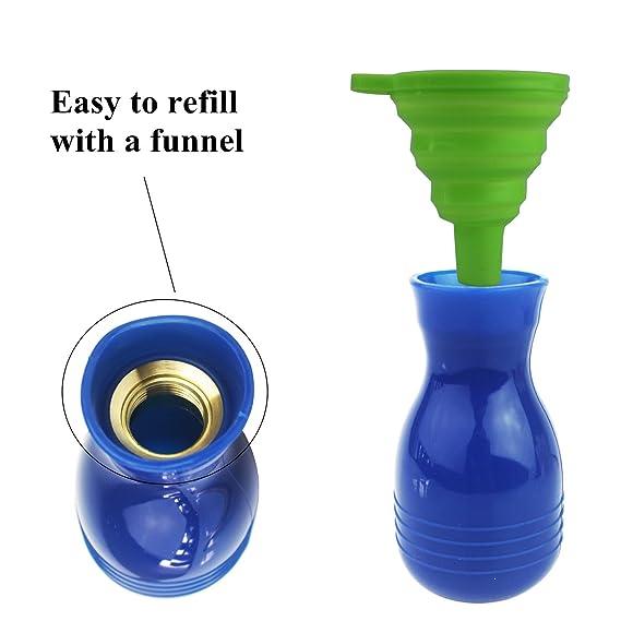 Cailorlife Dispensador Aplicador de Insecticida en Polvo Antiinsectos Alimañas, Bombilla Plumero Pulverizador (Azul): Amazon.es: Jardín