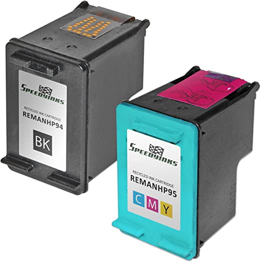 2 Black 1 Tricolor DoorStepInk Remanufactured in The USA for HP 94 HP 95 Ink Cartridge Replacement C8765WN C8766WN Compatible with Deskjet 460 5740 6540 9800 Officejet 100 150 6200