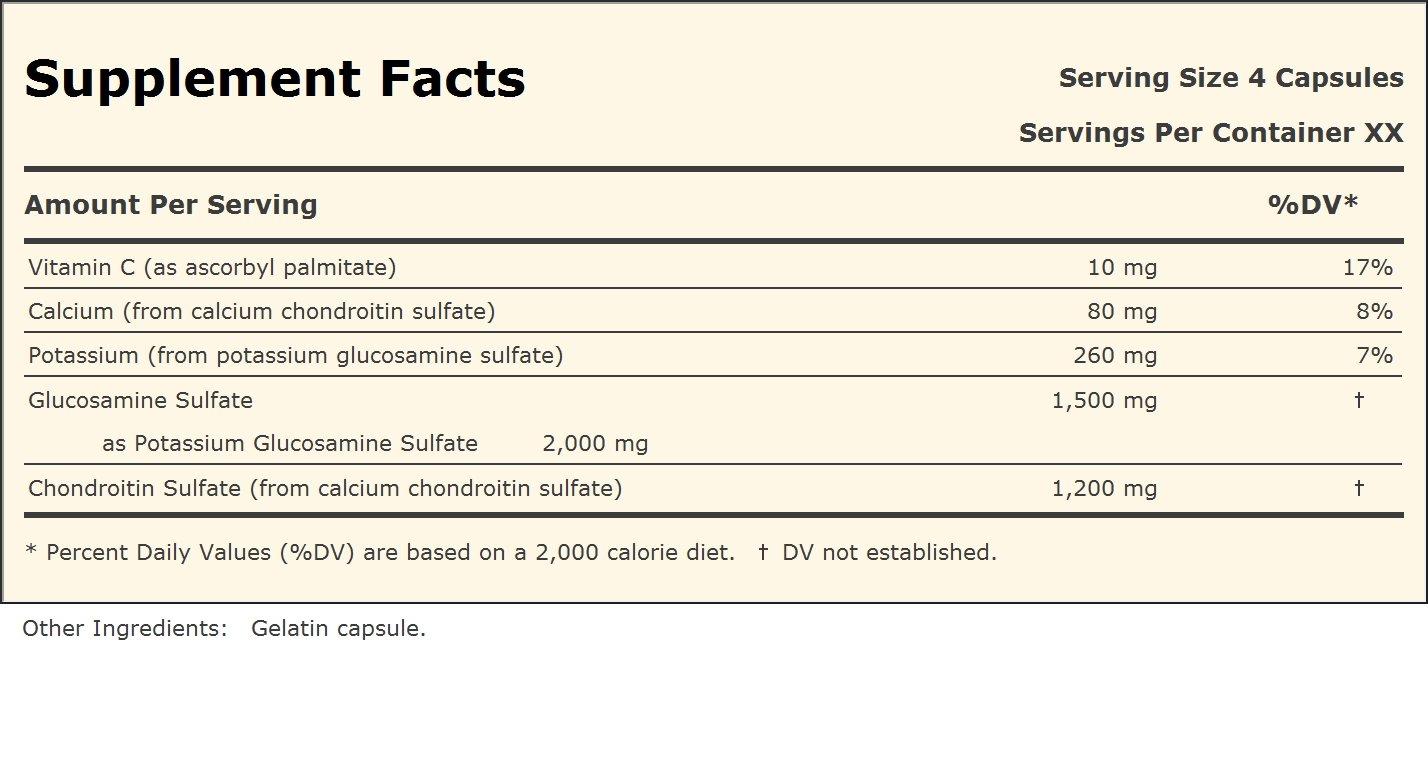 Glucosamine 1500 and Chondroitin 1200