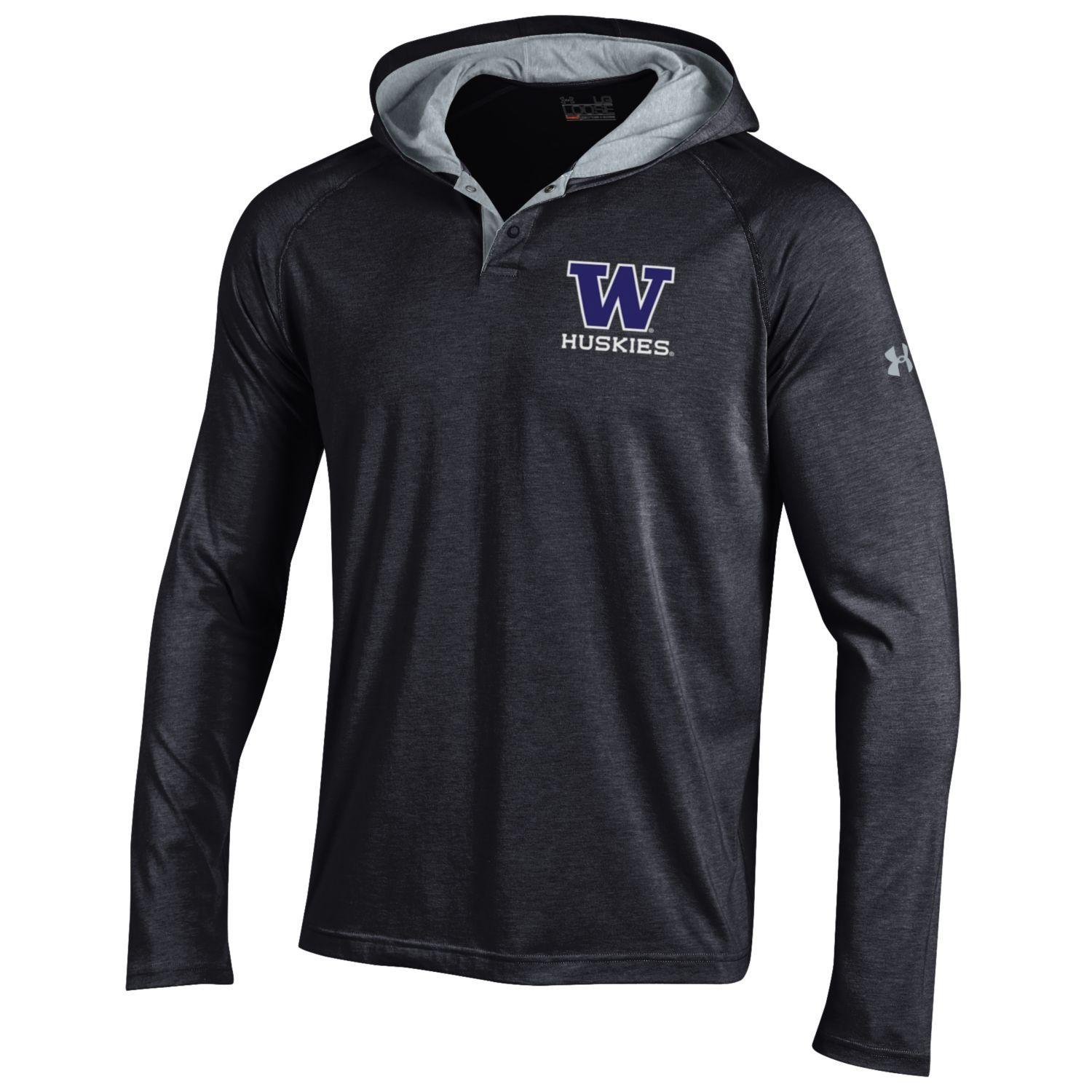 Under Armour Herren NCAA Charged Cotton Hooded Henley Tee