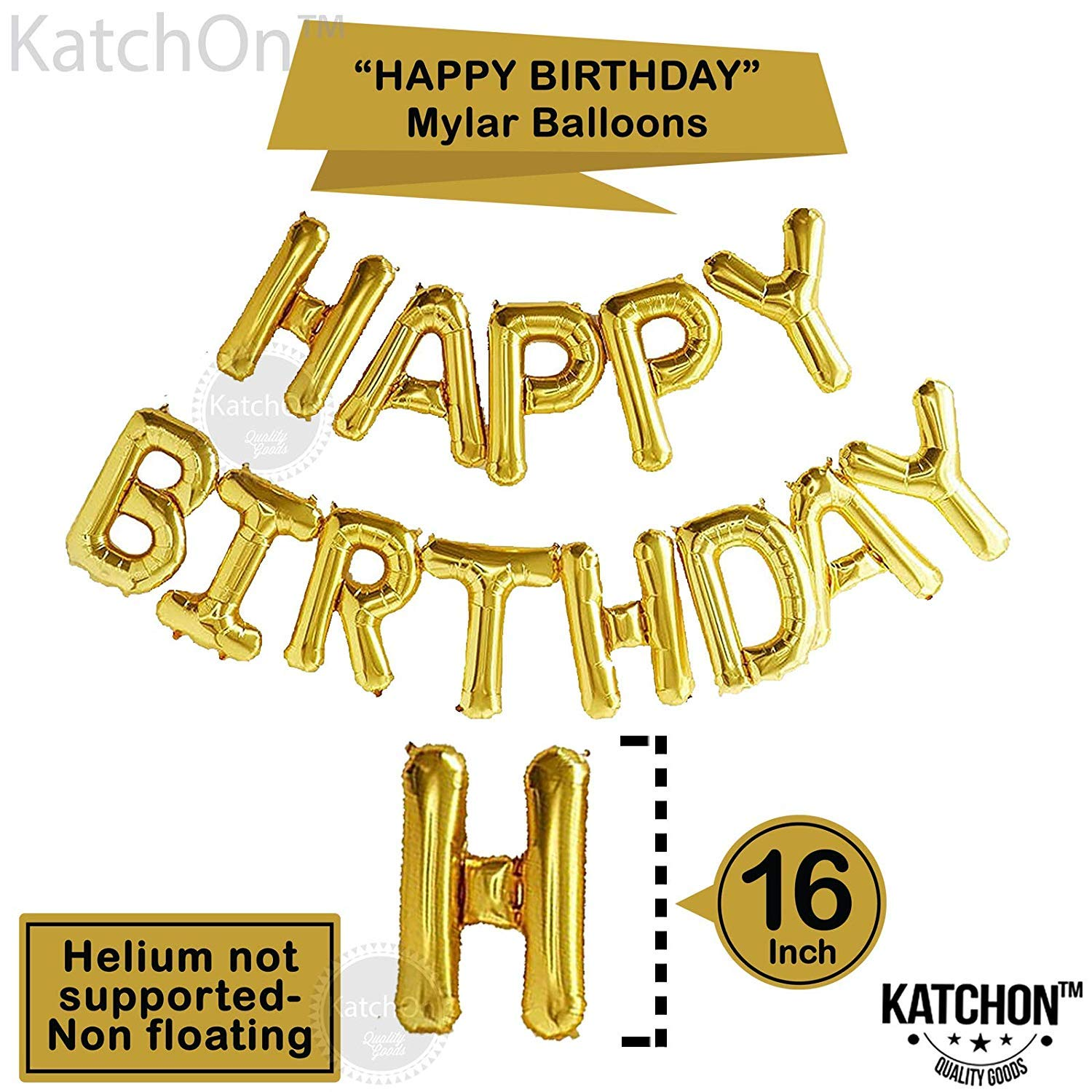 50th Birthday Party Decorations Kit With Happy Foil Balloons 50 Number Balloon Gold
