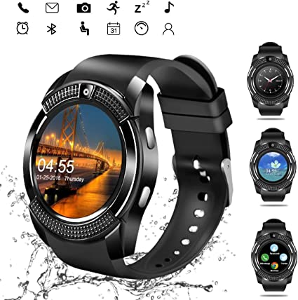 Amazon.com: Sazooy - Reloj inteligente con Bluetooth ...